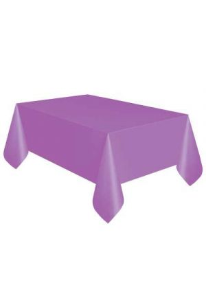 Pretty Purple Plastic Tablecover