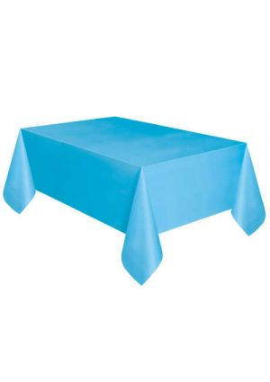 Powder Blue Plastic Tablecover