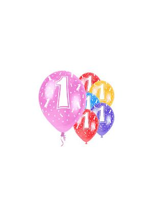 Age 1  12 inch Pearlised Balloons