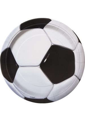 3D Football Party Plates - 9 inch - 8pk