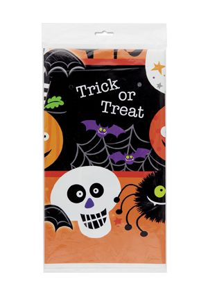 Spooky Smiles Halloween Plastic Tablecover