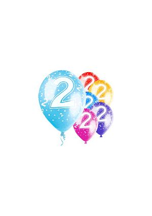 Age 2  12 inch Pearlised Balloons