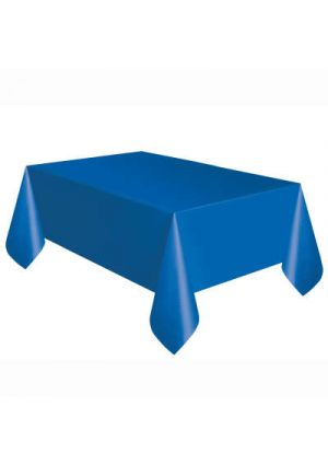 Royal Blue Plastic Tablecover