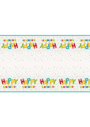 Happy Balloon Party Plastic Tablecover