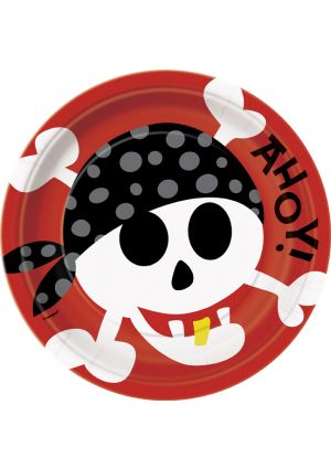 Pirate Fun Party Paper Plates - 9inch - 8pk
