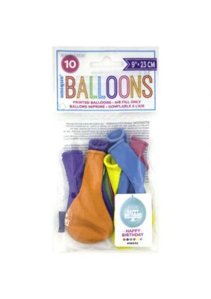A Pack of 10 Happy Birthday Balloons
