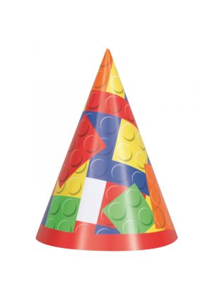 Happy Birthday Building Blocks Party Hats