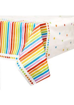 Rainbow Plastic Tablecover