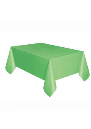 Lime Green Plastic Tablecover