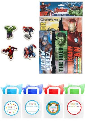The Marvel Avengers Play Pack Party Bag