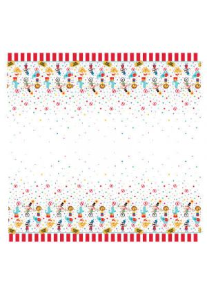 Circus Carnival Plastic Tablecover
