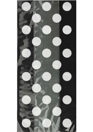 Black Spotty Cellophane Party Bags