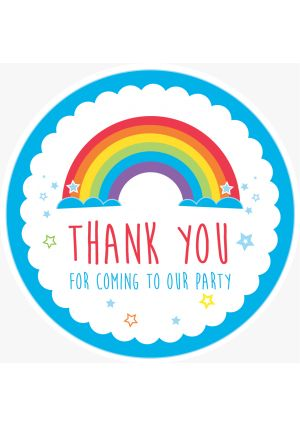 Blue Rainbow OUR Party Label
