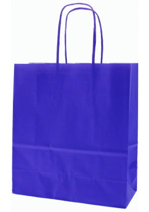 SALE - Royal Blue Paper Party Bag with twisted paper handles