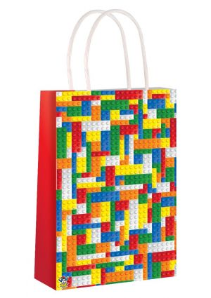 Brickz Paper Party Bag with Twisted Paper Handles