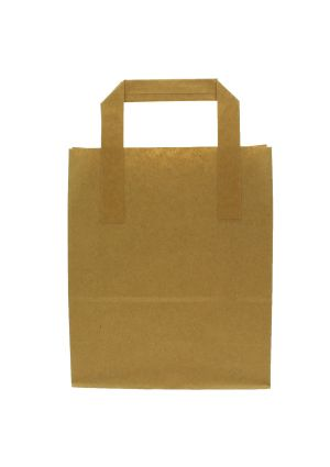 Large Brown Paper Bag with Tape Handles