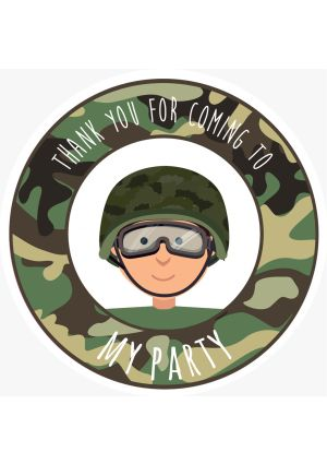 Camouflage Party Label