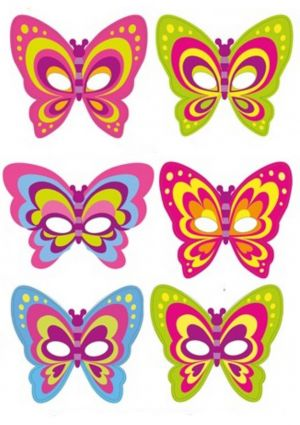 Butterfly Mask - Card