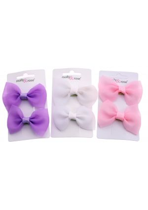 Pastel Bow Hair Clips