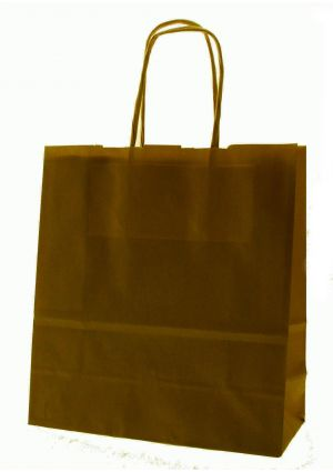 SALE - Chocolate Brown Paper Party Bag with twisted paper handles
