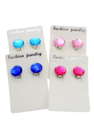 Clip On Jewel Earrings