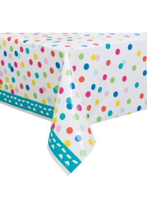 Happy Birthday Confetti Cake Plastic Tablecover