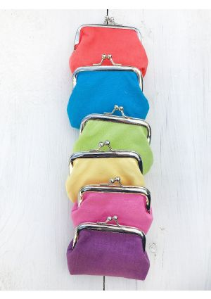 100% Cotton Clip Purse