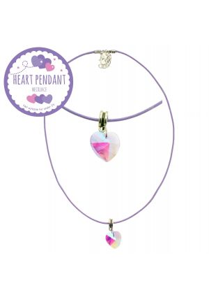 Transluscent Heart Pendant Necklace