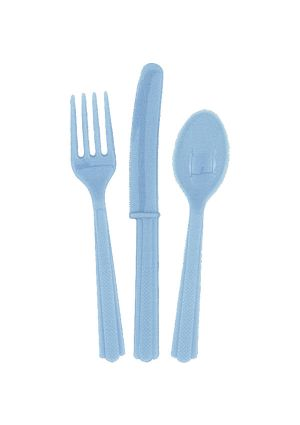 Powder Blue Cutlery 18pk