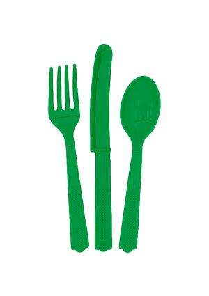 Emerald Green Cutlery 18pk