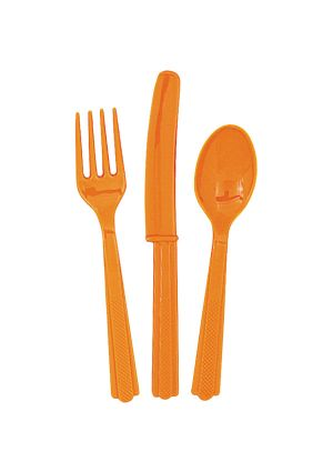 Orange Cutlery 18pk