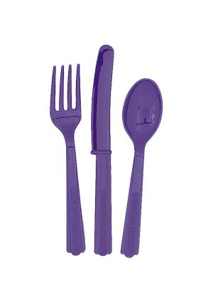 Purple Cutlery 18pk