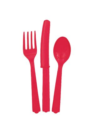 Red Cutlery 18pk