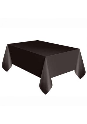 Black Plastic Tablecover