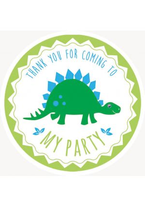 Dinosaur Party Label