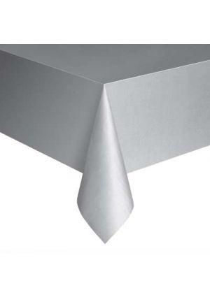 Silver Plastic Tablecover