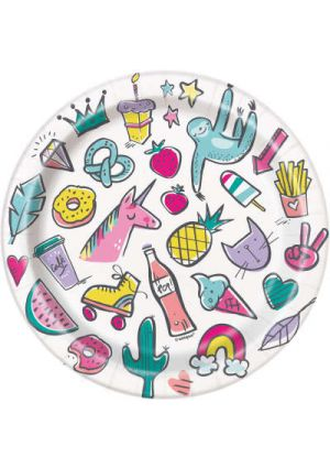Favourite Things Party Paper Plates 17cm 8pk