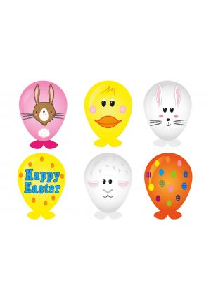 Easter Balloon Heads