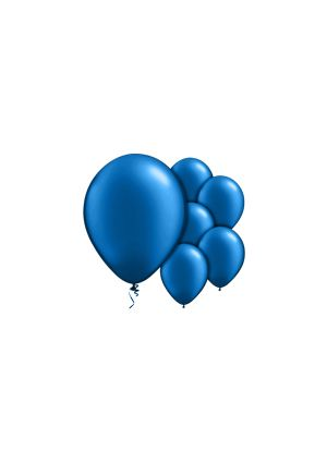 A Pack of 10 Evening Blue Helium Quality Balloons