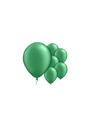 A Pack of 10 Fern Green Helium Quality Balloons