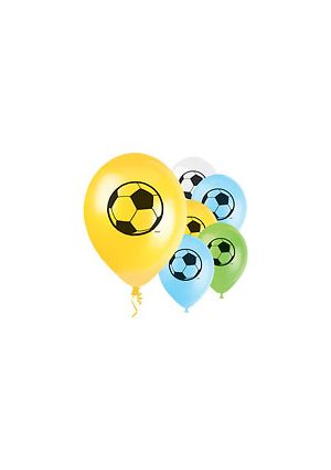 3d Motif Football Balloons - 8 pack