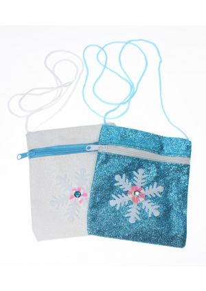 Snowflake Glitter Purse with shoulder strap