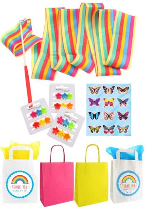 The Rainbow Twirling Ribbon Party Bag