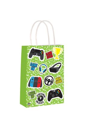 Gamer Paper Party Bag with Twisted Handles