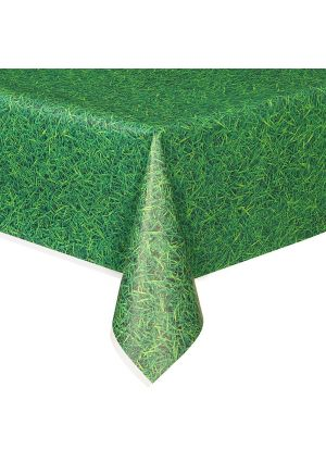 Green Grass Plastic Tablecover