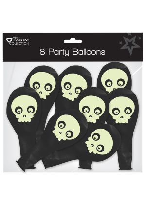 A pack of 8 Halloween Balloons