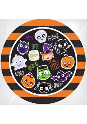Halloween Party Paper Plates 23cm