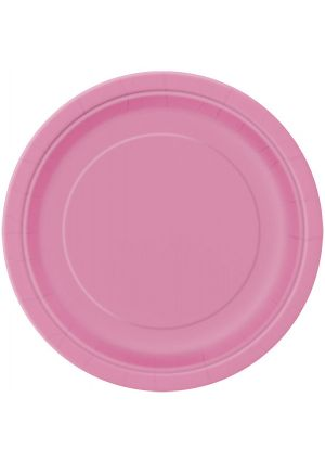 Hot Pink Paper Plates 22cm 16 Pack
