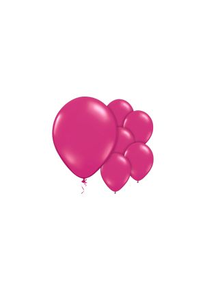 A Pack of 10 Hot Fuchsia Pink Helium Quality Balloons