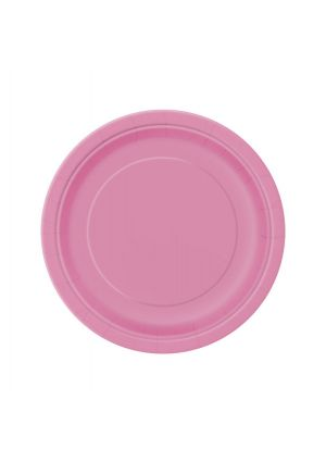 Hot Pink Paper Plates 17cm - 20pk